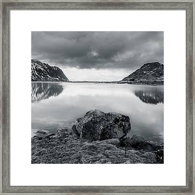 Rock In The Middle Framed Print