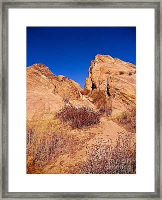 Rock Into The Sky Framed Print