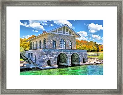 Rock Island Boathouse Framed Print by Christopher Arndt