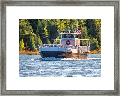 Rock Island Karfi Ferry In Door County Framed Print by Christopher Arndt