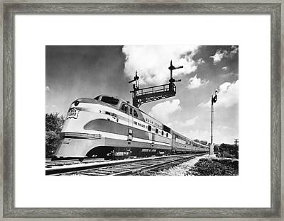 Rock Island Line Rocket Train Framed Print by Underwood Archives