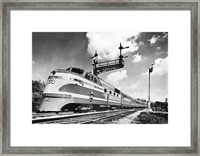 Rock Island Line Rocket Train Framed Print
