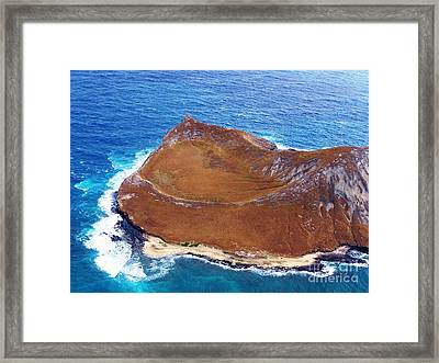 Rock Island Oahu Framed Print
