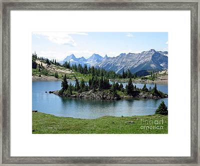 Rock Isle Lake Framed Print by Gerry Bates