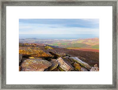 Rock Minerals Found In The Wicklow Mountains Framed Print by Semmick Photo
