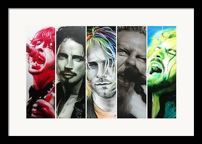 Pearl Jam Framed Prints