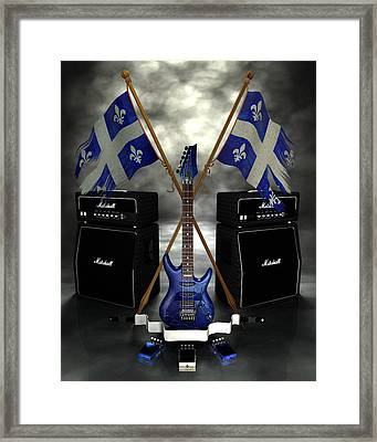 Rock N Roll Crest - Quebec Framed Print by Frederico Borges