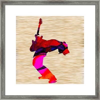 Rock N' Roll Guitarist Framed Print