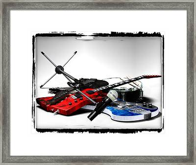 Rock N Roll Pile Framed Print by Frederico Borges