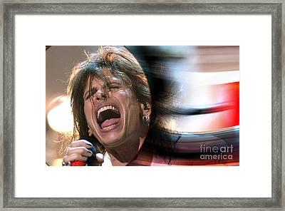 Rock N Roll Steven Tyler Framed Print