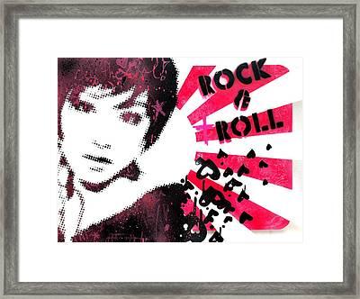 Rock N Troll Framed Print by Vanessa Baladad