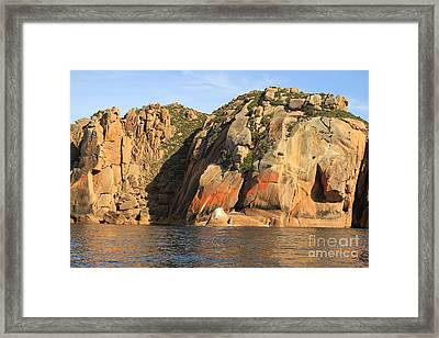 Rock Of Ages All Profits Go To Hospice Of The Calumet Area Framed Print