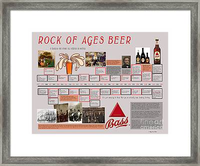 Rock Of Ages Bass Beer Timeline Framed Print by Megan Dirsa-DuBois