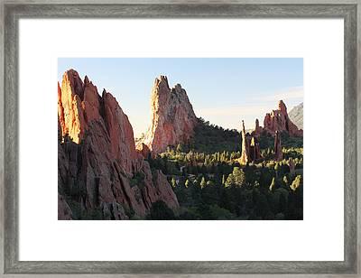 Rock Of Ages Framed Print by Eric Glaser