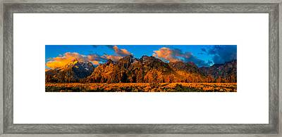 Framed Print featuring the photograph Rock Of Ages Panorama by Greg Norrell