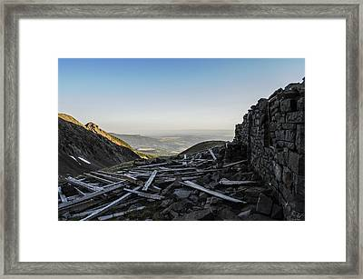 Rock Of Ages Ruins Framed Print