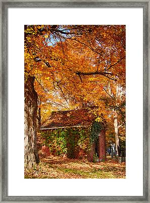 Framed Print featuring the photograph Rock Of Ages Surrouded By Color by Jeff Folger