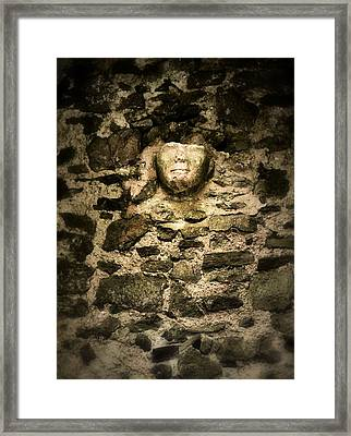 The Face In The Wall - Rock Of Cashel Framed Print