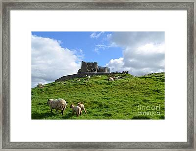Rock Of Cashel In The Distance Framed Print