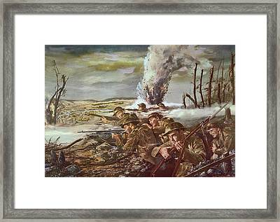 Rock Of The Marne Framed Print by Granger