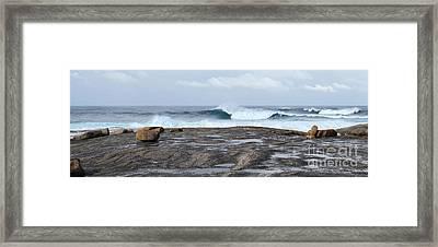 Rock On Boat Harbour Framed Print