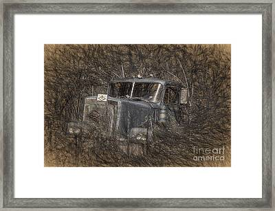 Rock On Road Warrior Framed Print by Lois Bryan