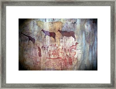 Rock Painting Framed Print by Photostock-israel
