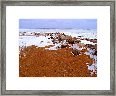 Rock Pile In Winter Wcae2pd  Framed Print by Lyle Crump