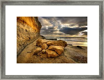 Rock Pile Framed Print by Peter Tellone