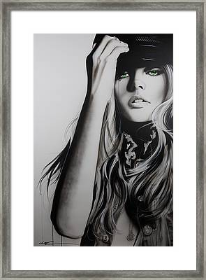 Portrait - ' Rock Police II ' Framed Print by Christian Chapman Art