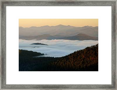 Rock Pond Mt View Framed Print