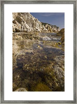 Rock Pools, Chios, Greece Framed Print by Science Photo Library