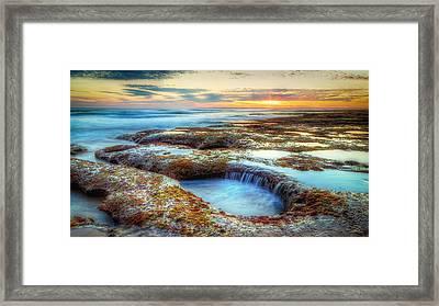 Rock Pools Framed Print by Paradigm Blue