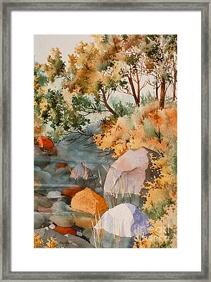 Rock Reflections Framed Print by Teresa Ascone