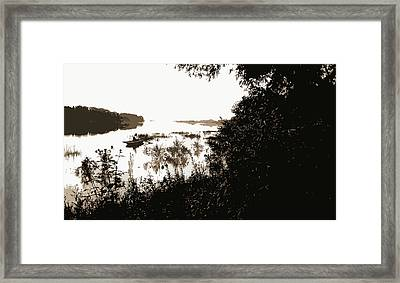 Rock River, View Near Dixon, Dixon, Ill, Rivers, Rowboats Framed Print
