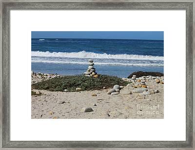 Rock Sculpture 2 Framed Print by Bev Conover