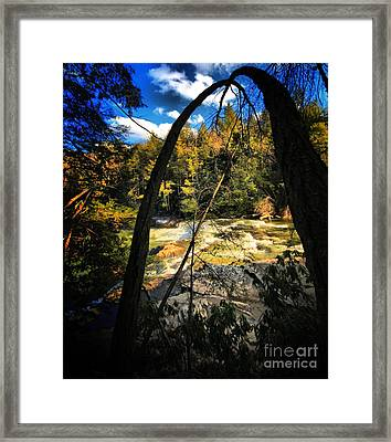 Rock Slide Framed Print