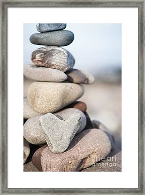 Rock Solid Love Framed Print by Anne Gilbert