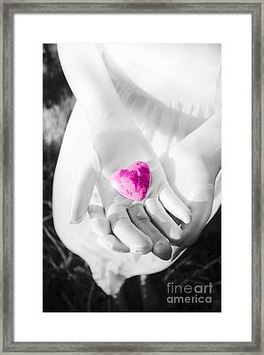 Rock Solid Love Framed Print by Jorgo Photography - Wall Art Gallery