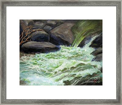 Rock Splash Framed Print