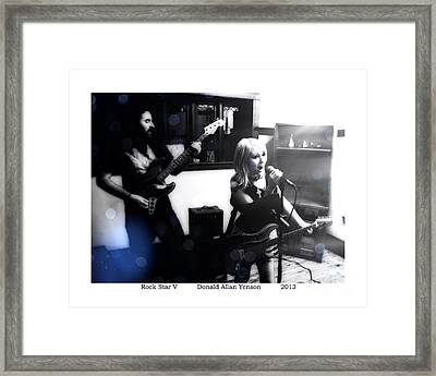Rock Star V Framed Print