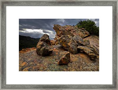 Rock/storm Framed Print