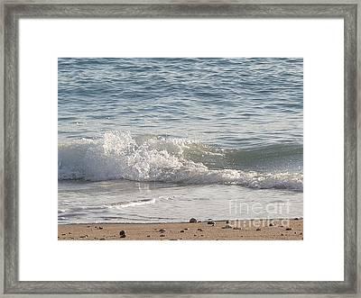 Rock-strewn Beach Framed Print by Deborah Smolinske