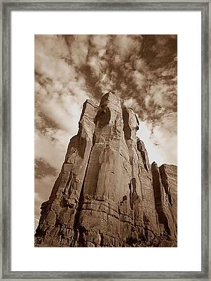 Rock Tower Framed Print