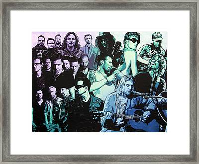 Rock Triptych - Panel A Framed Print by Bobby Zeik