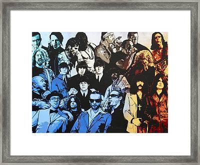 Rock Triptych - Panel B Framed Print by Bobby Zeik