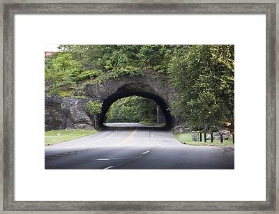 Rock Tunnel On Kelly Drive Framed Print by Bill Cannon
