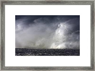 Rock V Wave V Framed Print