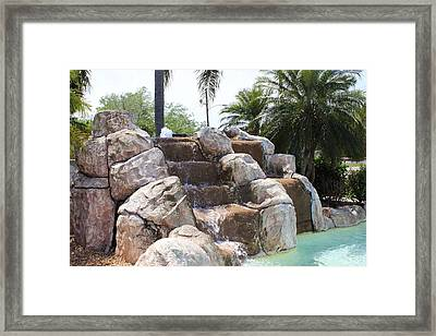 Framed Print featuring the photograph Rock Waterfall by John Mathews