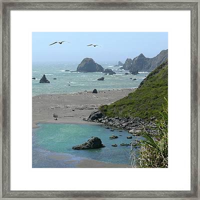 Rock West Coast Framed Print